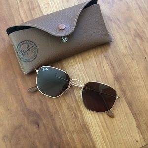 Ray-Ban hexagonal brown gradient sunglasses